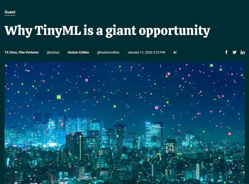 Why tinyML is a giant opportunity right now