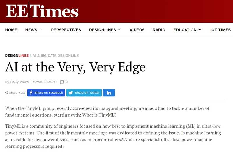 AI at the Very, Very Edge (EE Times)